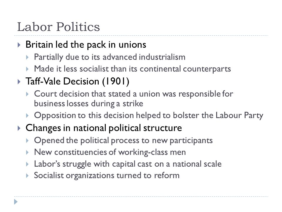 Labor Politics Britain led the pack in unions