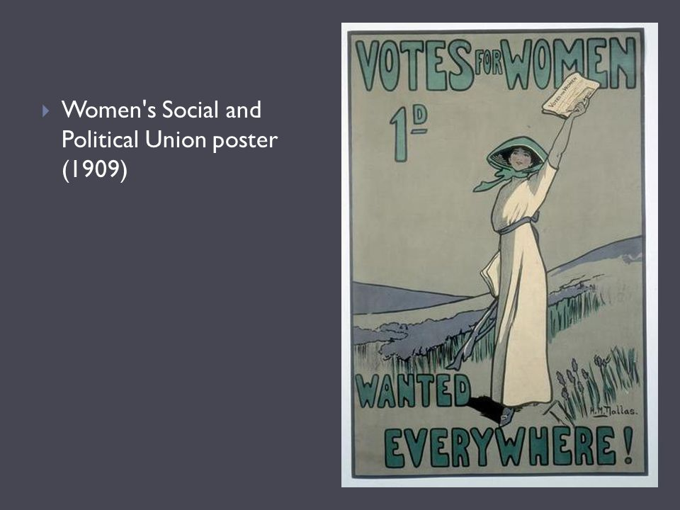 Women s Social and Political Union poster (1909)