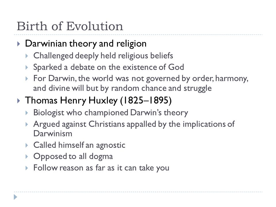 Birth of Evolution Darwinian theory and religion
