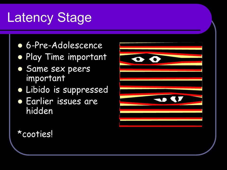 Latency Stage 6-Pre-Adolescence Play Time important