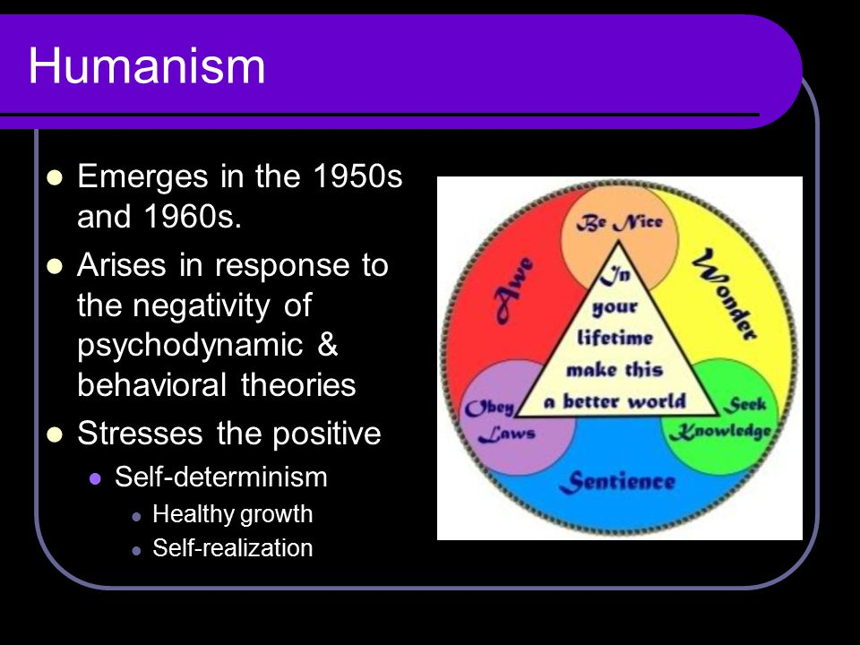 Humanism Emerges in the 1950s and 1960s.