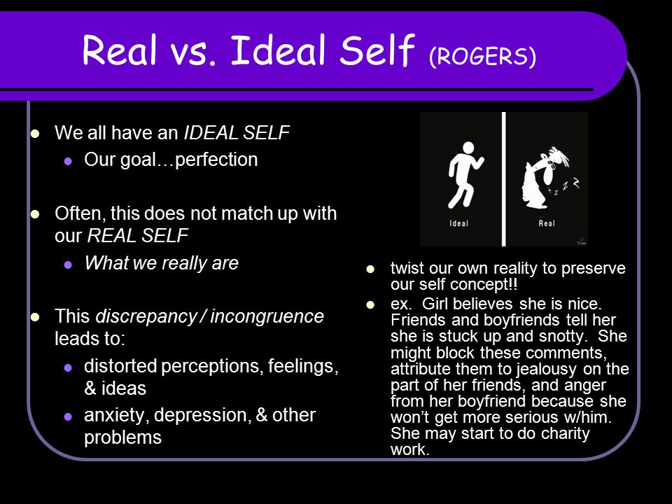 Real vs. Ideal Self (ROGERS)