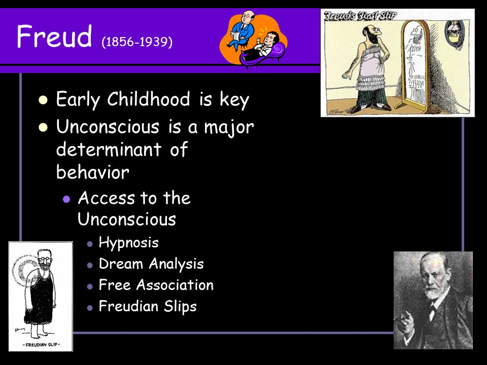 Freud (1856-1939) Early Childhood is key