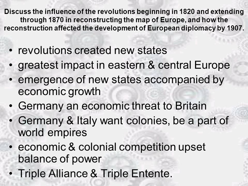 revolutions created new states