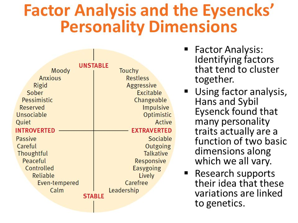 Factor Analysis and the Eysencks' Personality Dimensions