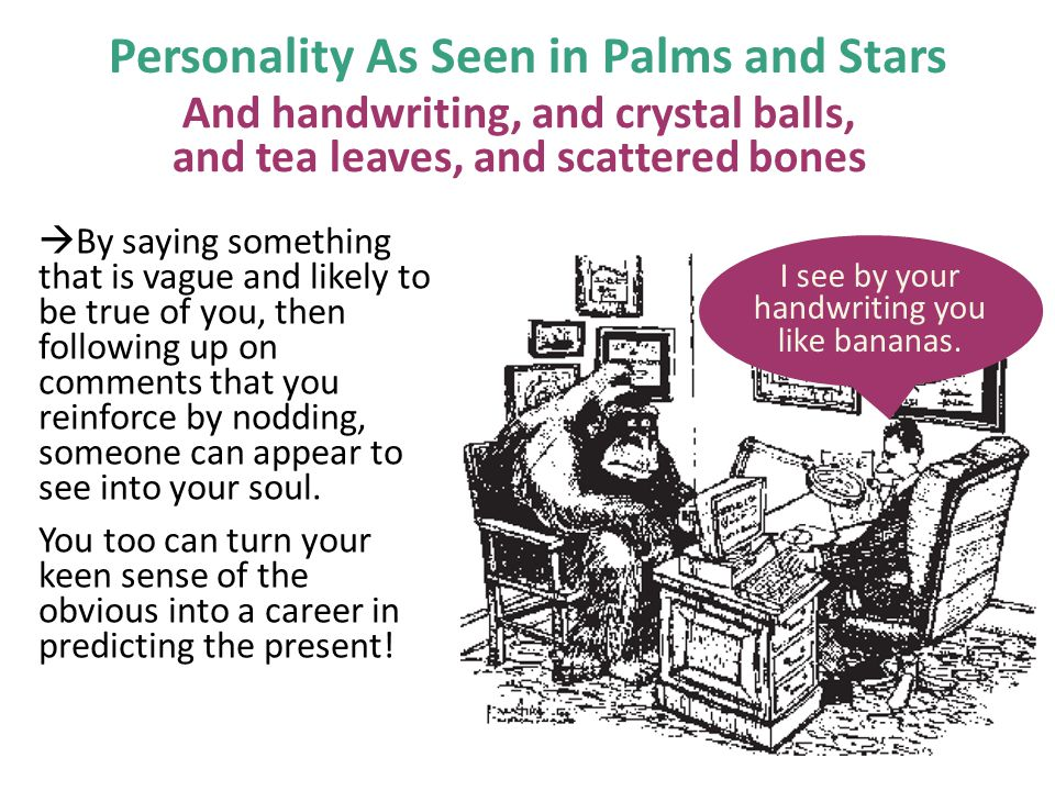 Personality As Seen in Palms and Stars