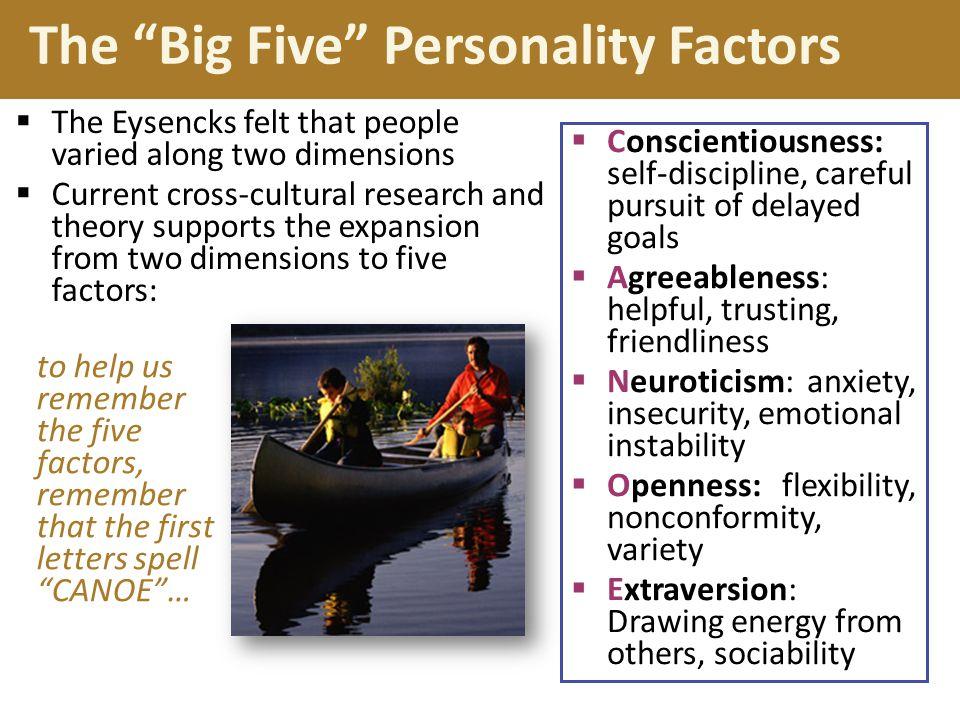 The Big Five Personality Factors