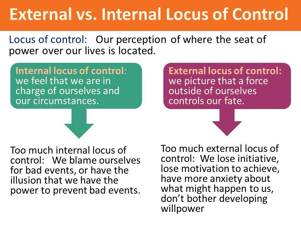 External vs. Internal Locus of Control