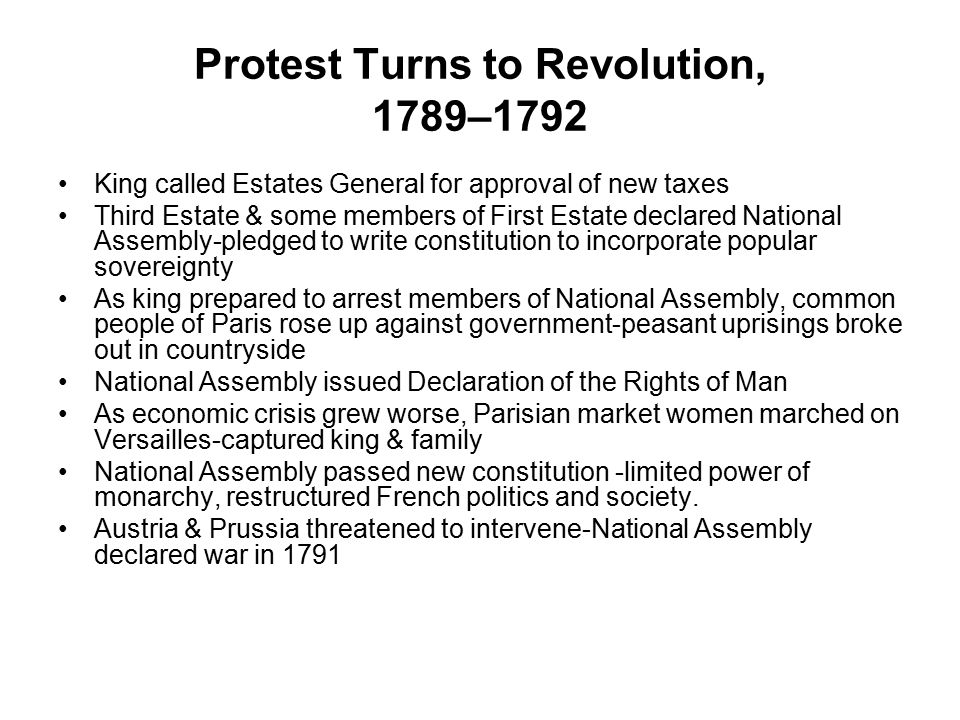 Protest Turns to Revolution, 1789–1792
