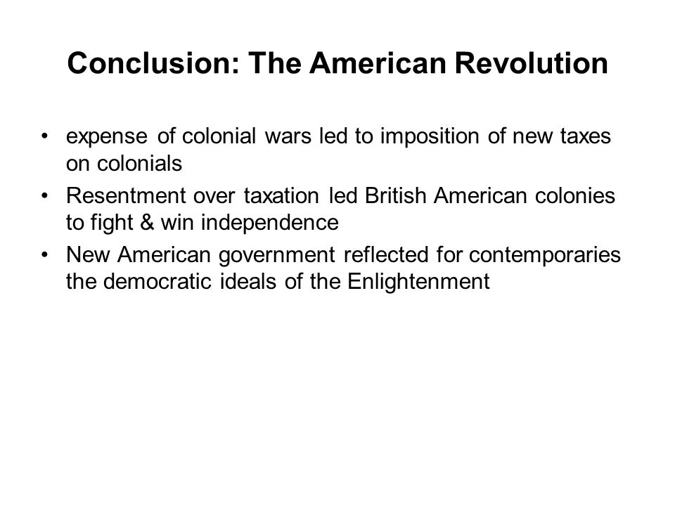 Conclusion: The American Revolution