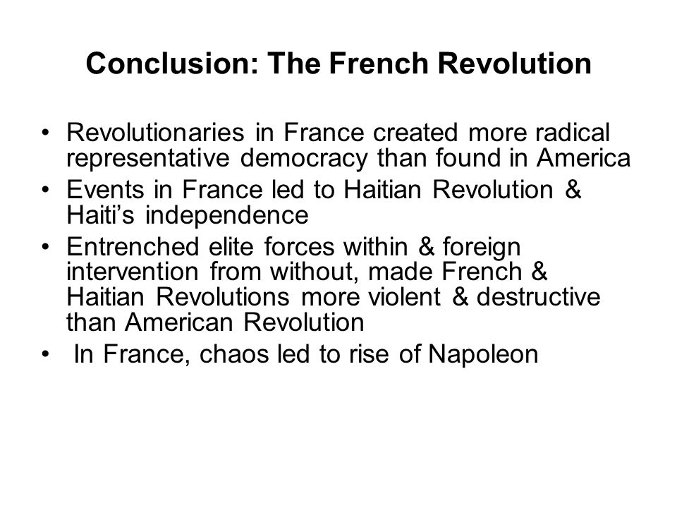 Conclusion: The French Revolution