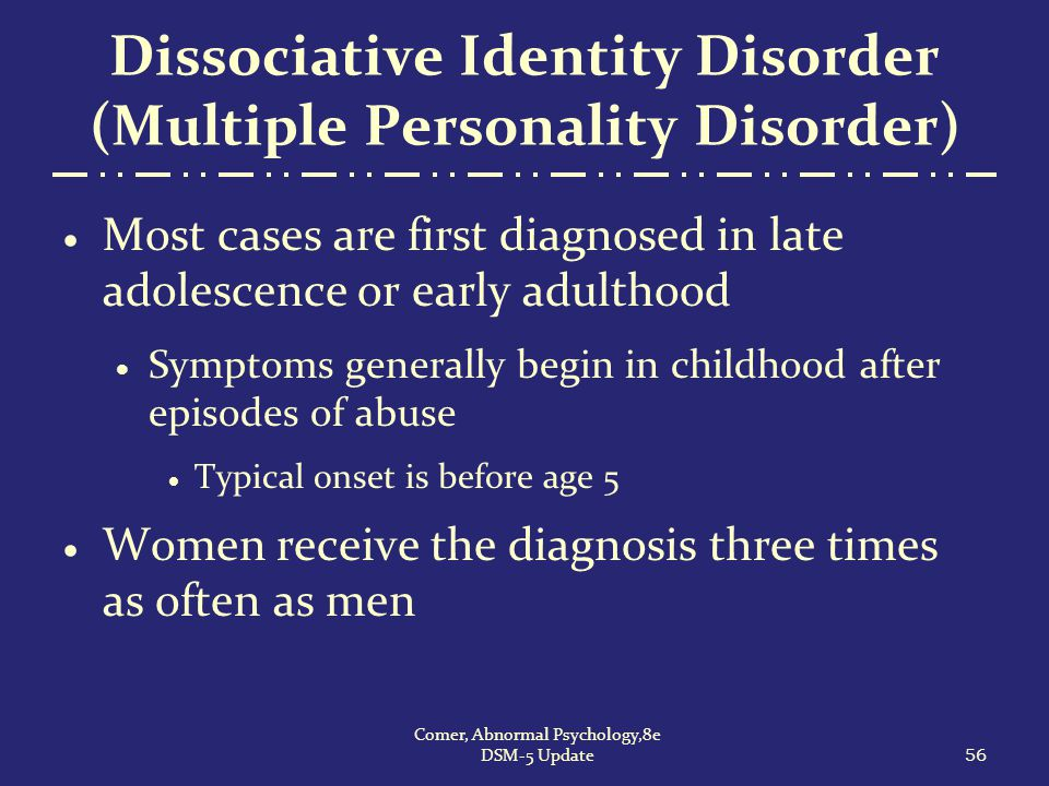 the overlooked and misdiagnosed multiple personality disorder After almost two years in treatment for what my gp suspected was a personality disorder i was misdiagnosed with bipolar disorder recommend seeking multiple.