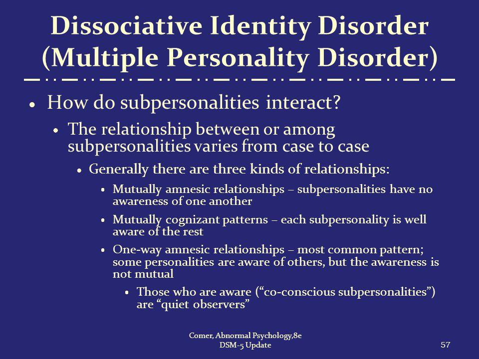 Dissociative Identity Disorder (Multiple Personality Disorder)