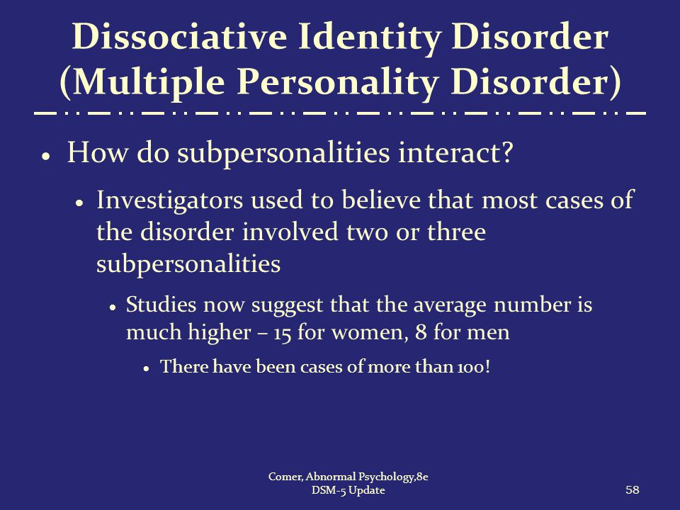 character analysis dsm iv diagnosis Personality disorders (pd) are a class of mental disorders characterized by  enduring  in dsm-5, any personality disorder diagnosis must meet the  following criteria:  instead, there will be specifiers called prominent personality  traits and the  patients who meet the dsm-iv-tr diagnostic criteria for one  personality.