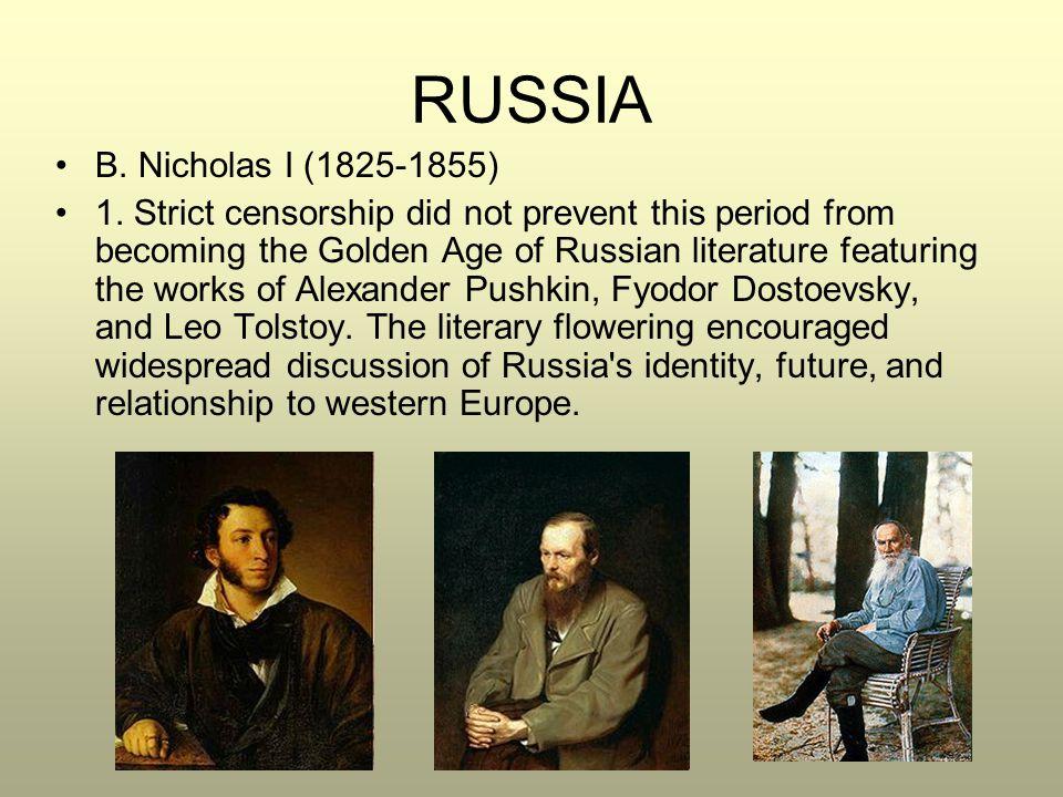 RUSSIA B. Nicholas I (1825-1855)