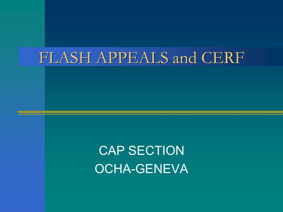 CAP SECTION OCHA-GENEVA