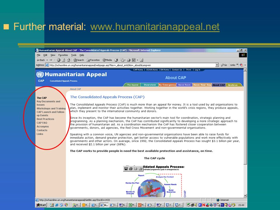 Further material: www.humanitarianappeal.net