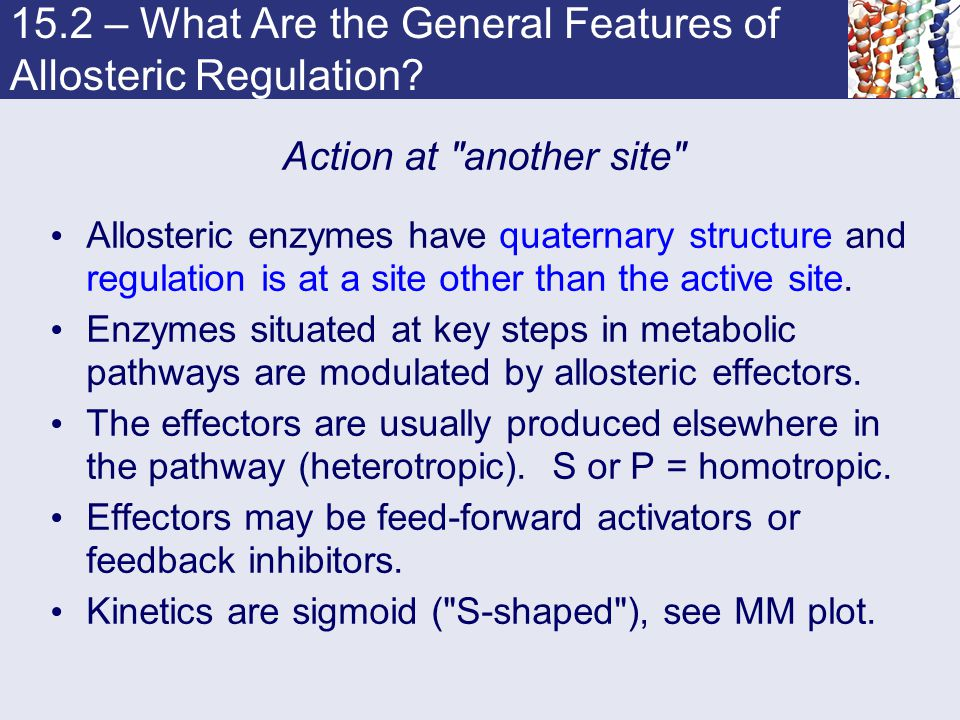 15.2 – What Are the General Features of Allosteric Regulation