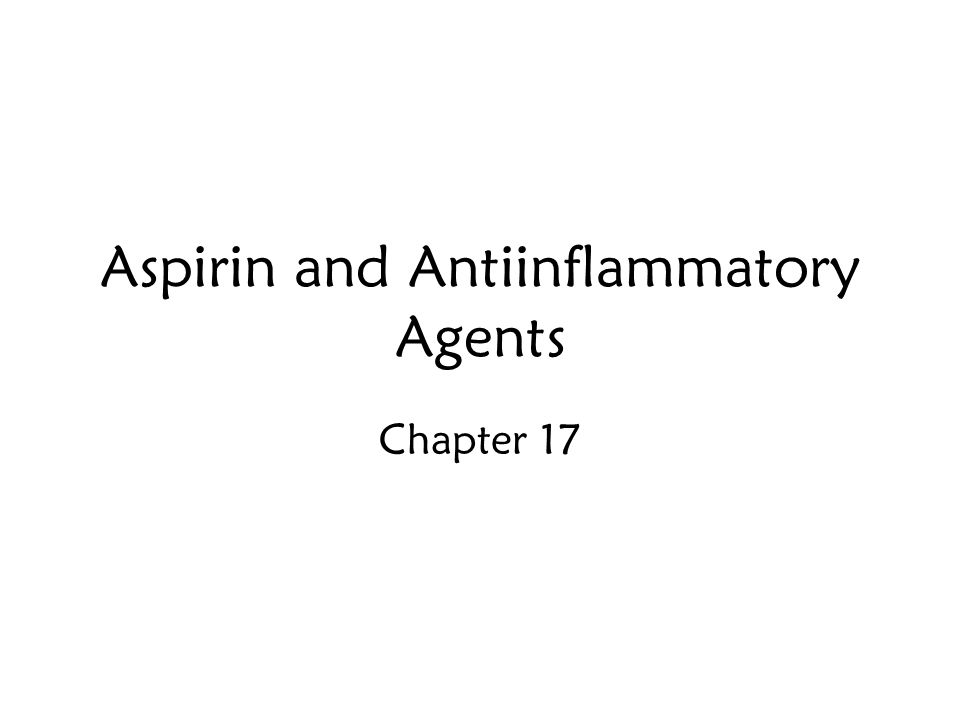 Aspirin and Antiinflammatory Agents