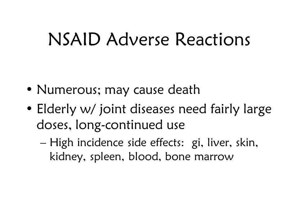 NSAID Adverse Reactions