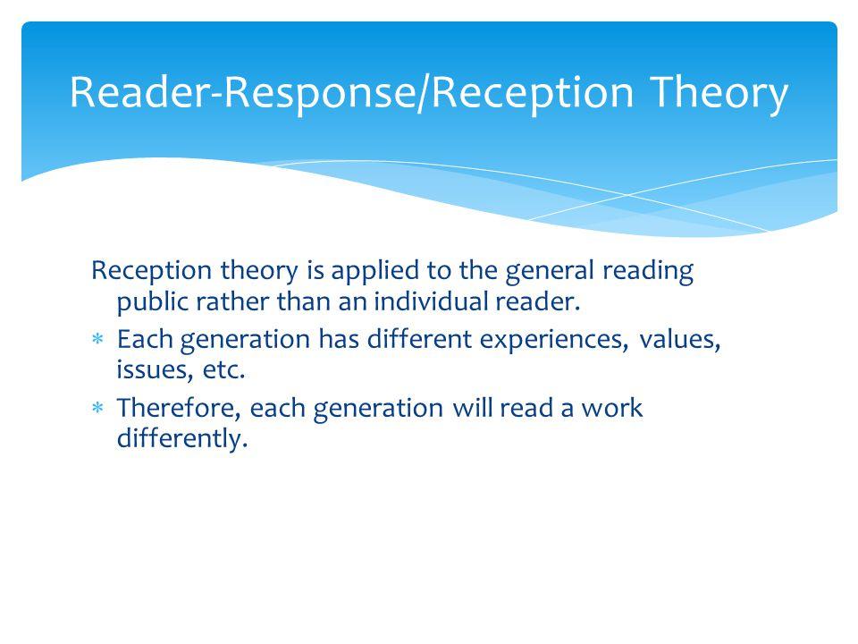 Reader-Response/Reception Theory
