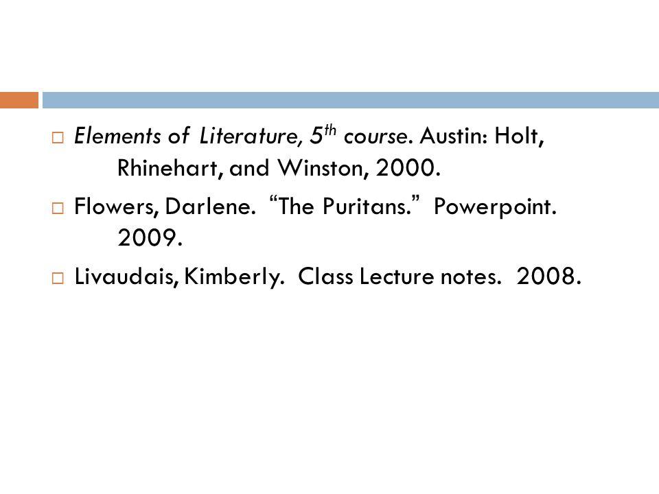 Elements of Literature, 5th course. Austin: Holt,