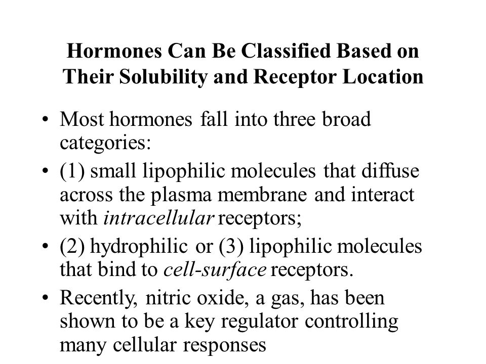 Hormones Can Be Classified Based on Their Solubility and Receptor Location