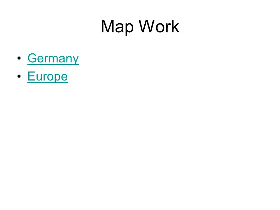 Map Work Germany Europe