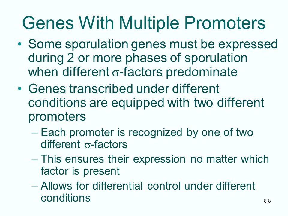 Genes With Multiple Promoters