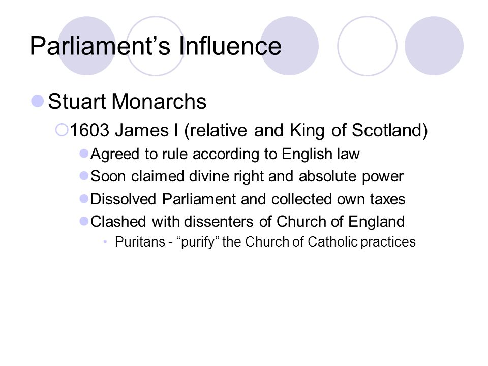 Parliament's Influence