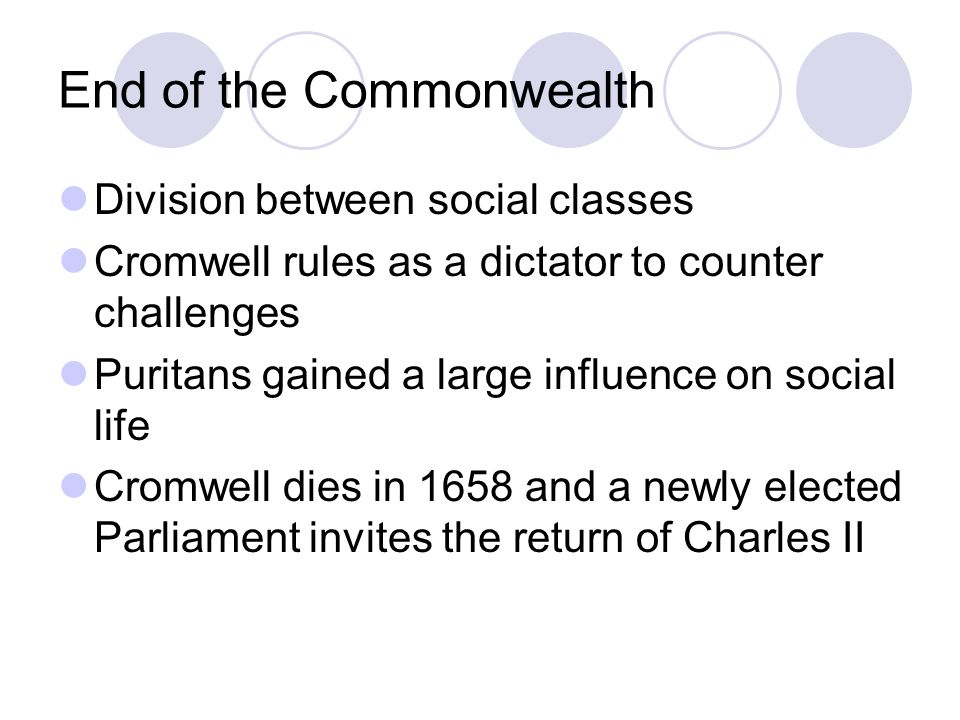 End of the Commonwealth
