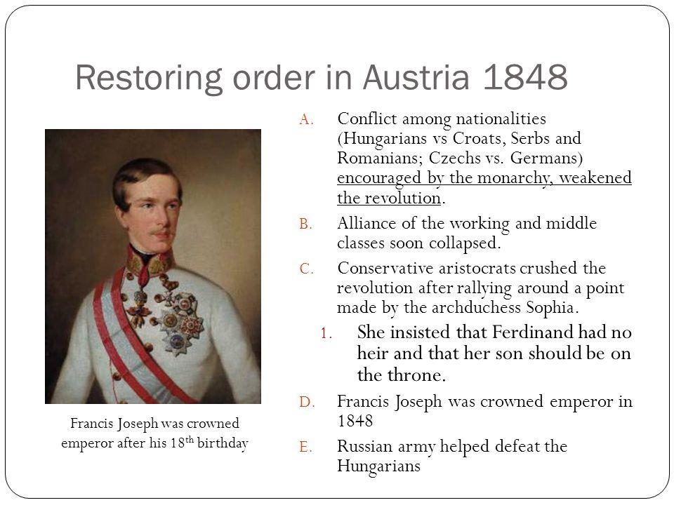 Restoring order in Austria 1848