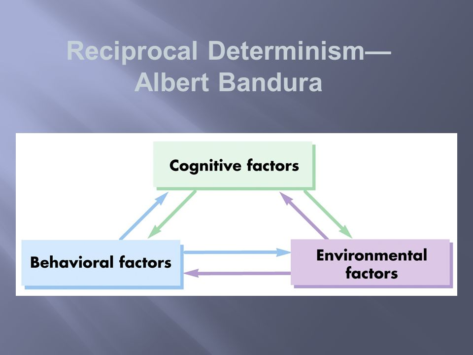 Reciprocal Determinism— Albert Bandura