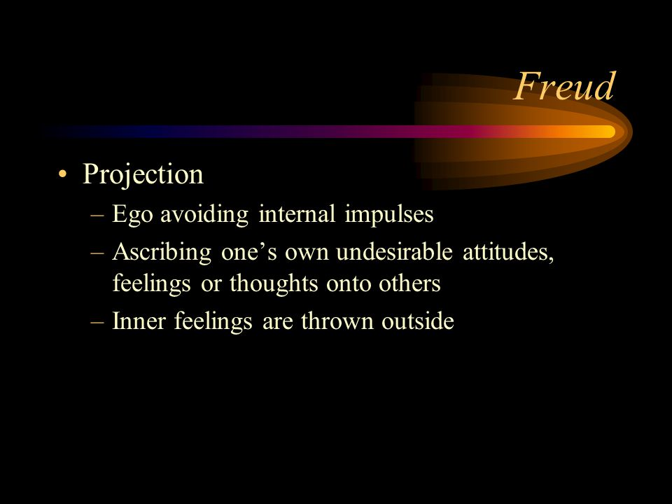 Freud Projection Ego avoiding internal impulses