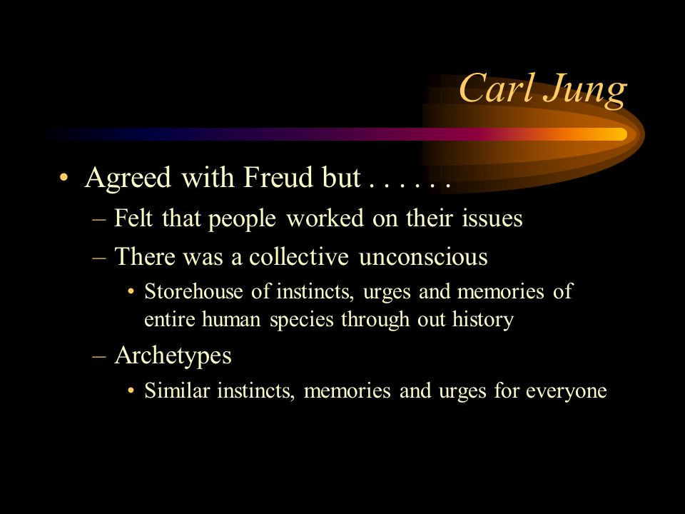 Carl Jung Agreed with Freud but . . . . . .