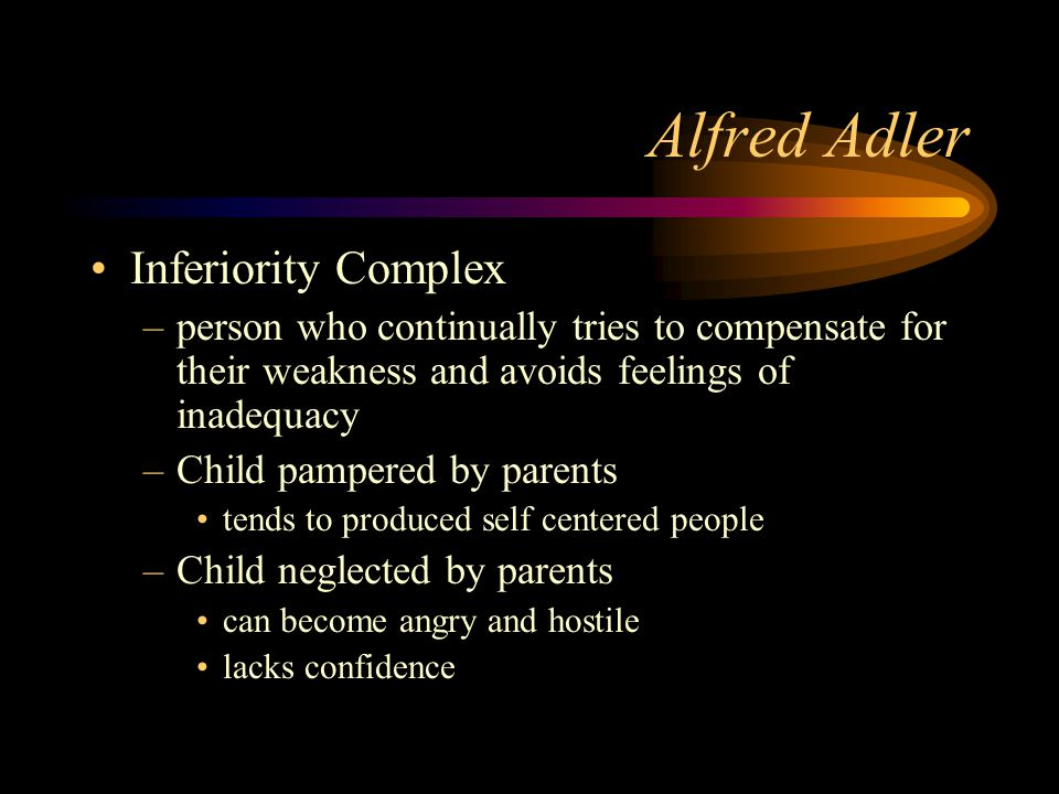 Alfred Adler Inferiority Complex