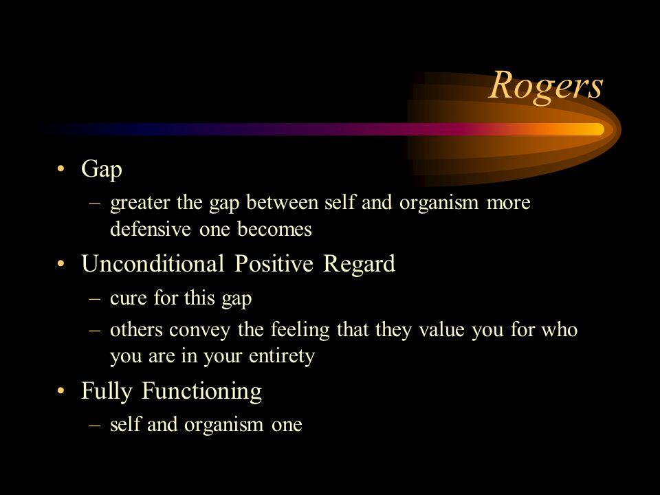 Rogers Gap Unconditional Positive Regard Fully Functioning