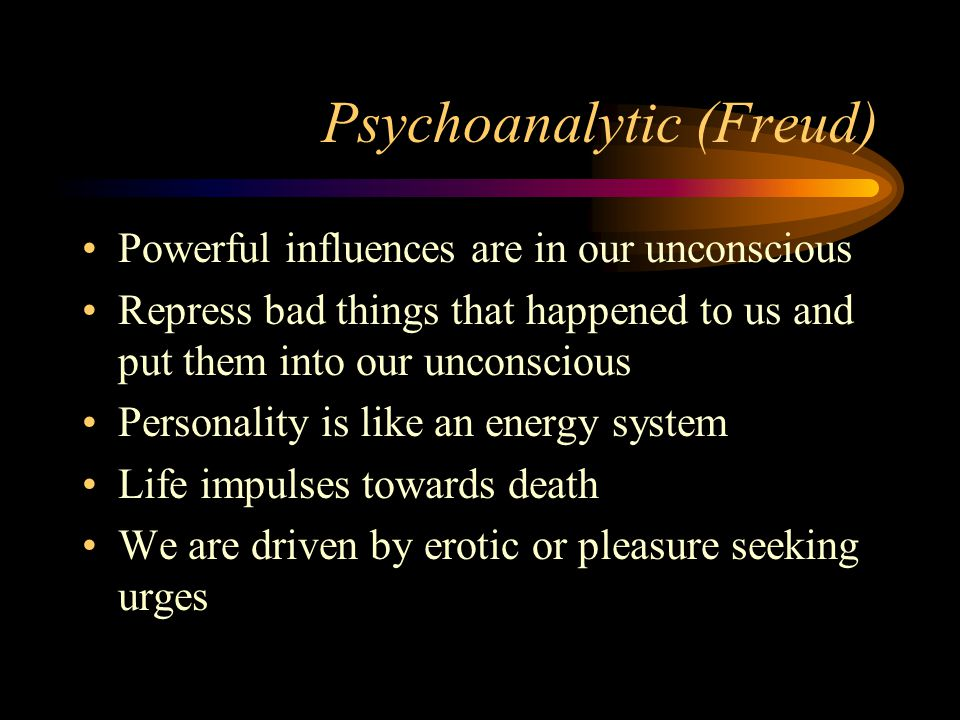 Psychoanalytic (Freud)