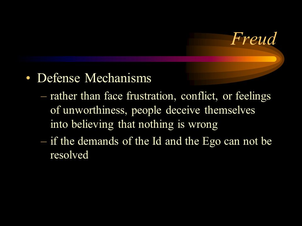 Freud Defense Mechanisms
