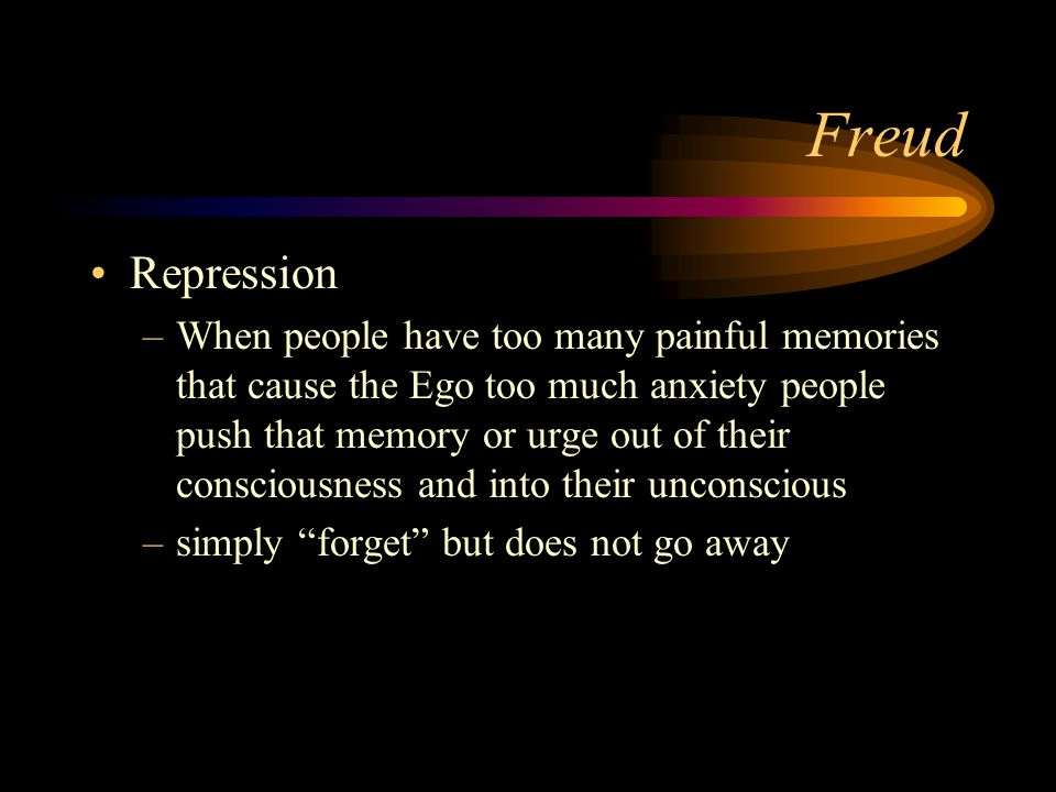 Freud Repression.