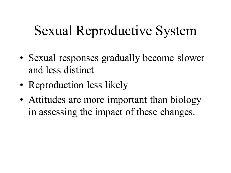 Sexual Reproductive System