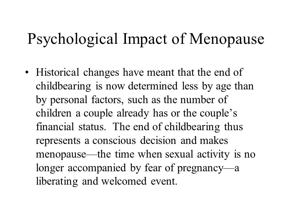 Psychological Impact of Menopause