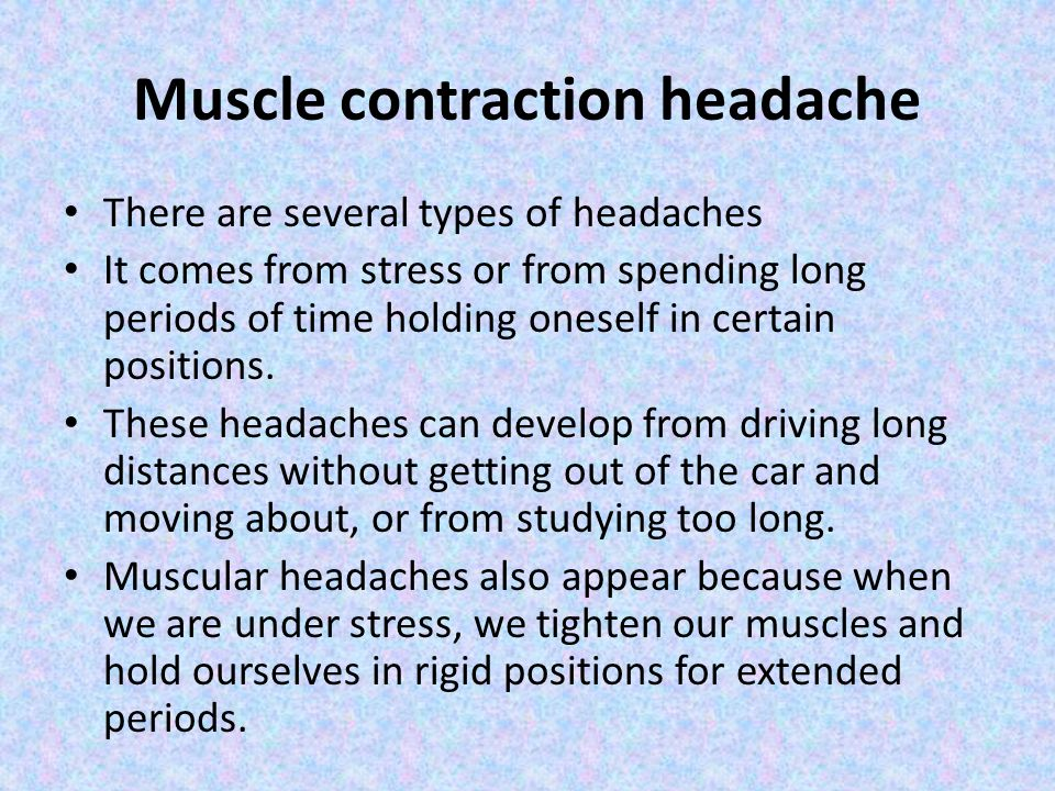 Muscle contraction headache