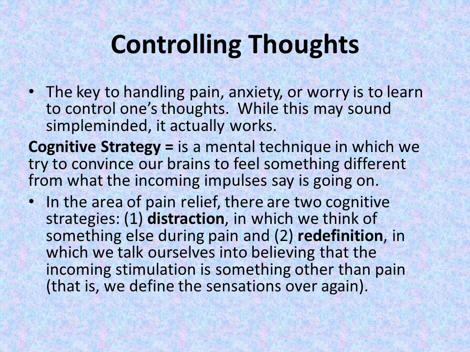 Controlling Thoughts