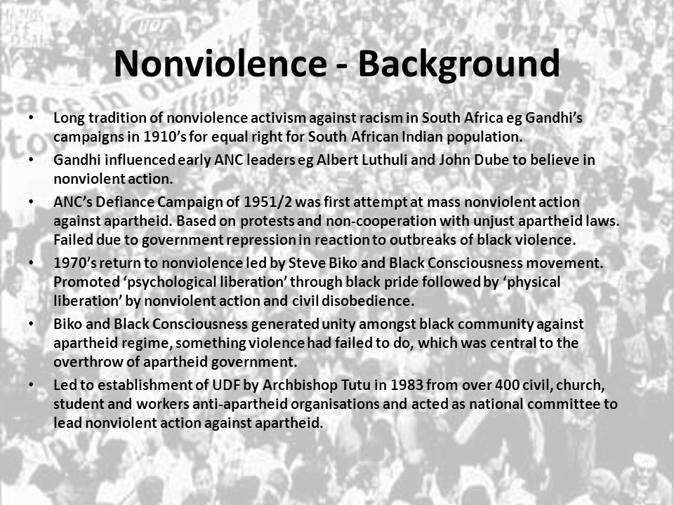 Nonviolence - Background