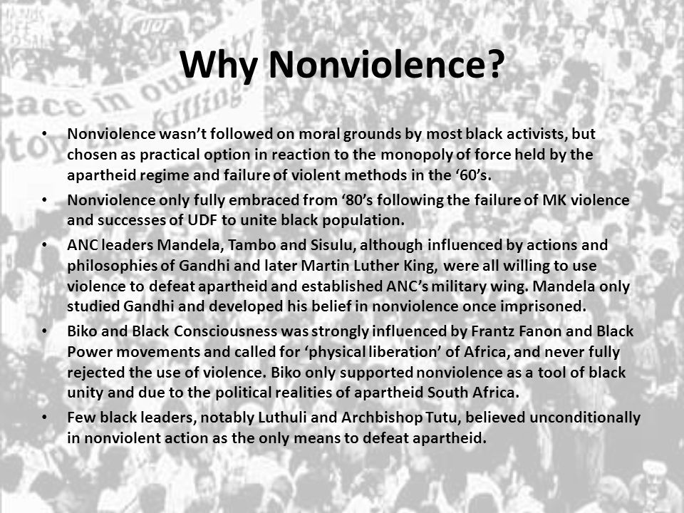 Why Nonviolence