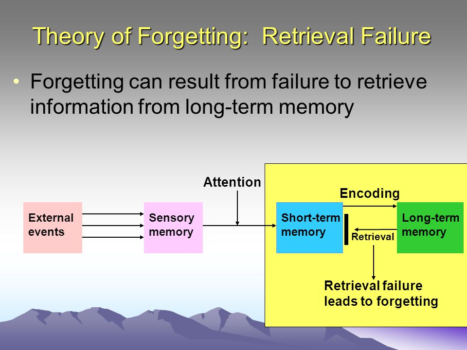 Theory of Forgetting: Retrieval Failure