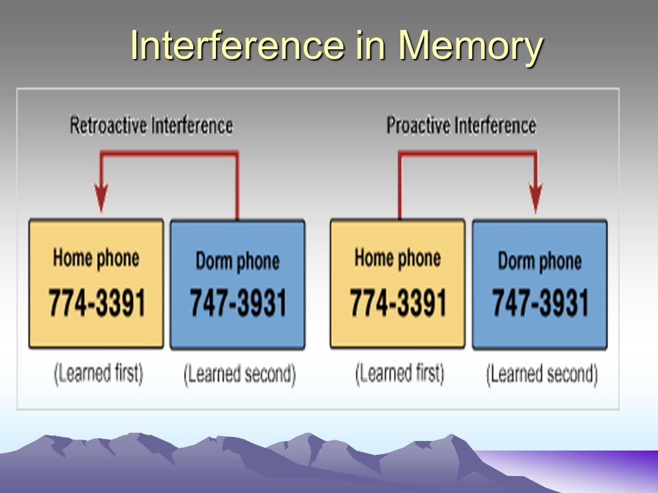 Interference in Memory