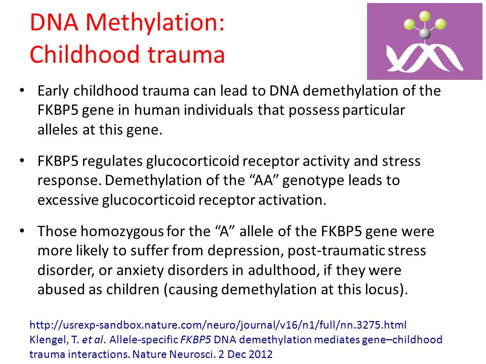 DNA Methylation: Childhood trauma