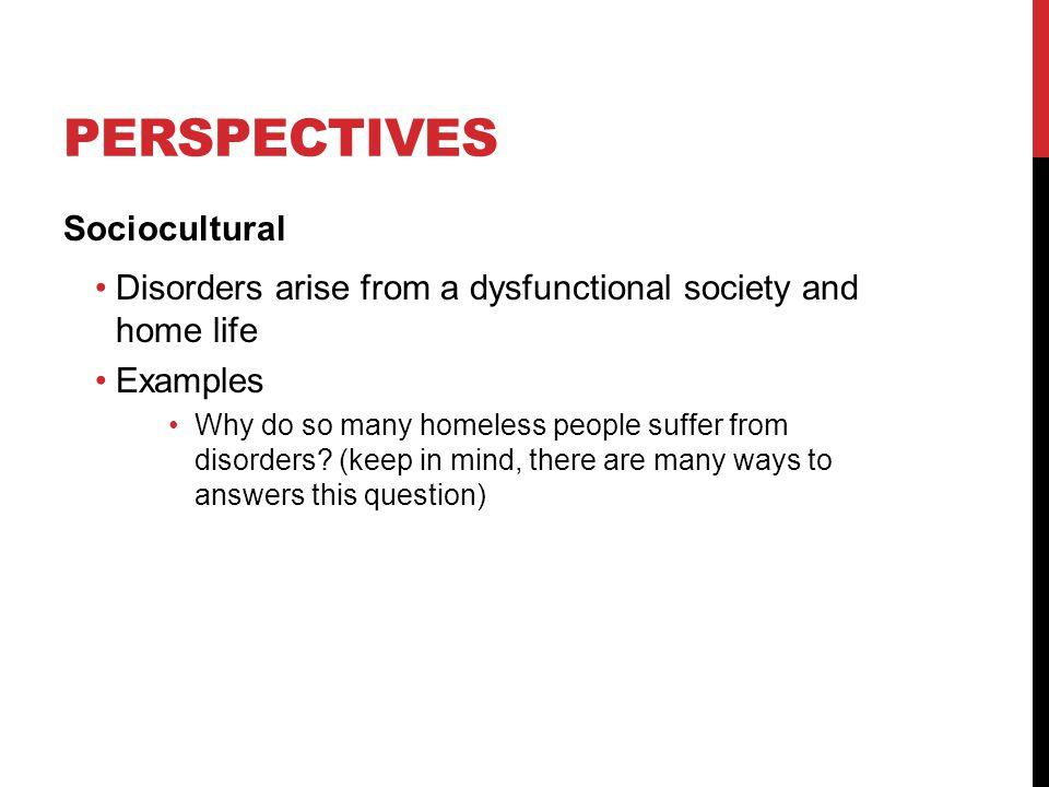 Perspectives Sociocultural